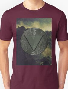Dark Forest Green fog Landscape Unisex T-Shirt