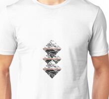 Modern Chic Black White Marble and Rose Gold Strip Unisex T-Shirt