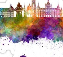 Graz skyline in watercolor Sticker
