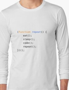 Eat, Sleep, Code, Repeat Long Sleeve T-Shirt
