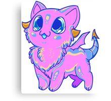 Cotton Candy Dragon Kitten Canvas Print