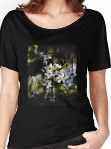 Hawthorn blossom grunge. Women's Relaxed Fit T-Shirt