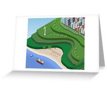 Beach Sea isometric  Greeting Card