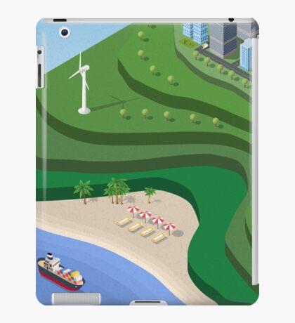 Beach Sea isometric  iPad Case/Skin
