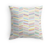 Colourful Herringbones II Throw Pillow