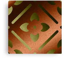 Faux Metallic Gold And Copper  Canvas Print