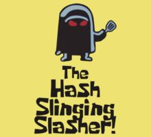 The Hash Slinging Slasher! (Black Text) - Spongebob Kids Tee