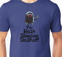 The Hash Slinging Slasher! (Black Text) - Spongebob Unisex T-Shirt