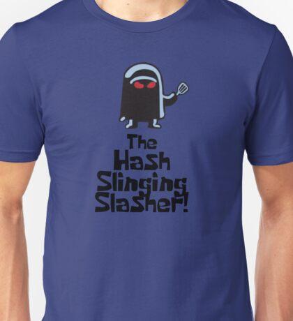 The Hash Slinging Slasher! (Black Text) - Spongebob Unisex T-Shirt