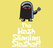 The Hash Slinging Slasher! (White Text) - Spongebob Baby Tee