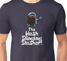The Hash Slinging Slasher! (White Text) - Spongebob Unisex T-Shirt
