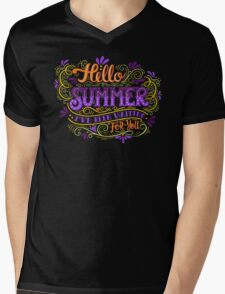 Hello summer. I have been waiting for you.  Mens V-Neck T-Shirt