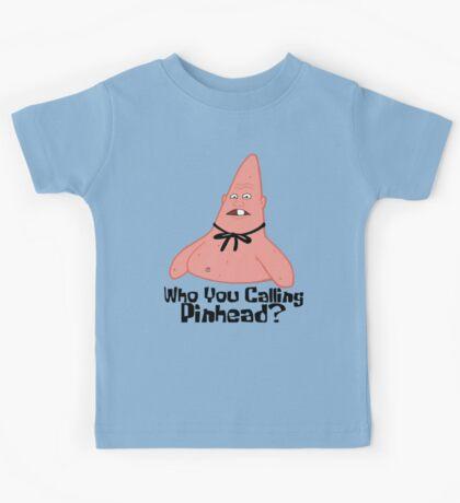 Who You Calling Pinhead? - Spongebob Kids Tee