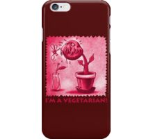 vegetarian plant red iPhone Case/Skin