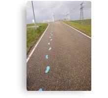 Blue Footsteps Canvas Print