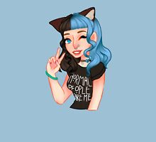 Black & Blue Kitty Womens Fitted T-Shirt