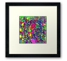 Artificial neural style Cubism mirror cat Framed Print