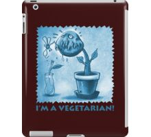 vegetarian plant blue iPad Case/Skin
