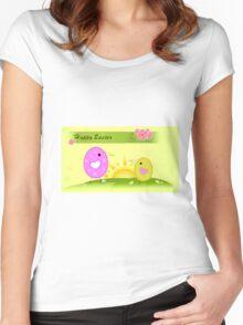 Easter fun Women's Fitted Scoop T-Shirt