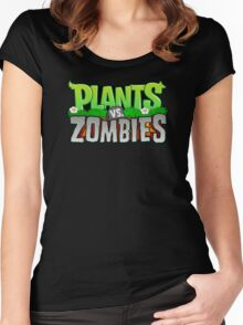 Plants Vs Zombies Women's Fitted Scoop T-Shirt
