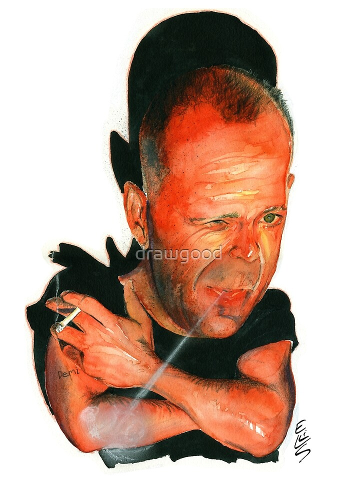 Bruce Willis by drawgood