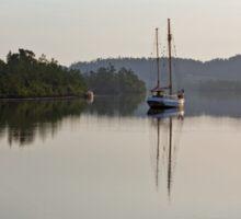 Dreamy Morn ~ Johnstone River, Innisfail, FNQ. AU Sticker