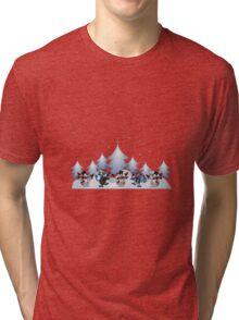 Snowmen & Reindeer Tri-blend T-Shirt