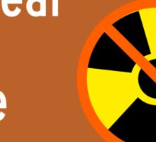 Nuclear Free Zone Sign, City of Berkeley, California, USA Sticker
