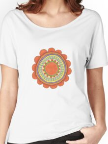 big red flowery shape Women's Relaxed Fit T-Shirt