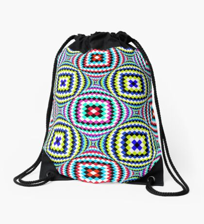 Kaleidoscopic Burst of Joy Drawstring Bag