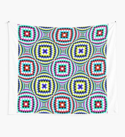 Kaleidoscopic Burst of Joy Wall Tapestry