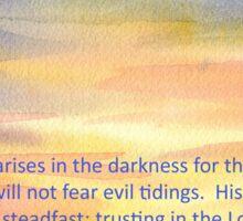 Hope- Psalm 112:4, 7 Sticker