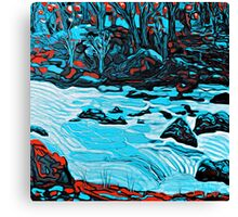 A River Runs Through Van Gogh Style Canvas Print