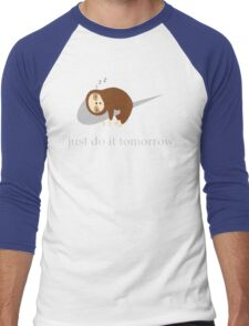 Sloth Life - Just do it tomorrow Men's Baseball ¾ T-Shirt