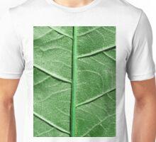 Veined Green Leaf Unisex T-Shirt