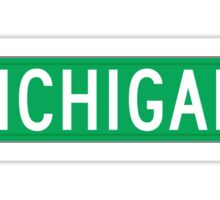 Michigan Avenue, Street Sign, Chicago, IL Sticker