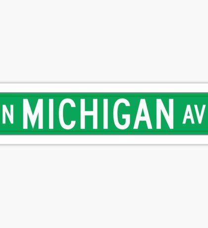 Michigan Avenue, Street Sign, Chicago, IL Sticker