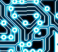 Electron - glowing circuits Sticker