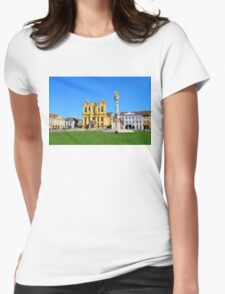 timisoara union square dome Womens Fitted T-Shirt