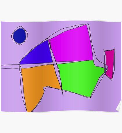 Double Lines Light Purple Poster