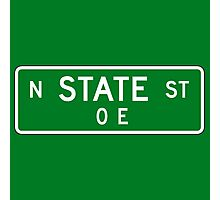 State Street Sign, Chicago, IL Photographic Print
