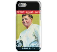 Babe Ruth Baseball Card iPhone Case/Skin
