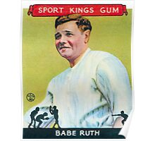 Babe Ruth Baseball Card Poster