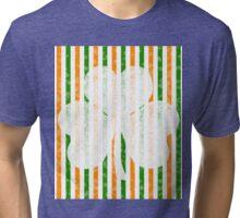 St. Patrick's Day Clover Tri-blend T-Shirt