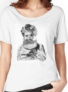 Portrait of a Man with Beard Women's Relaxed Fit T-Shirt