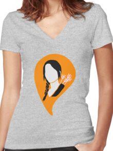 KATNISS EVERDEEN Women's Fitted V-Neck T-Shirt