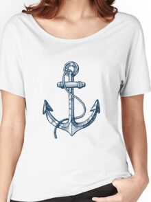 Anchor and steering wheel Women's Relaxed Fit T-Shirt