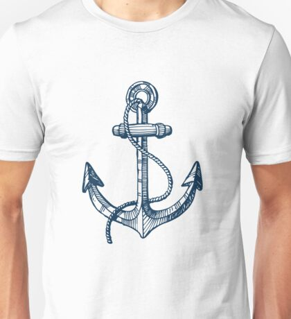 Anchor and steering wheel Unisex T-Shirt