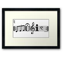 Music Cool Font Framed Print