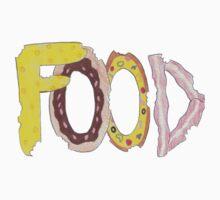 Concrete poem: Food One Piece - Short Sleeve